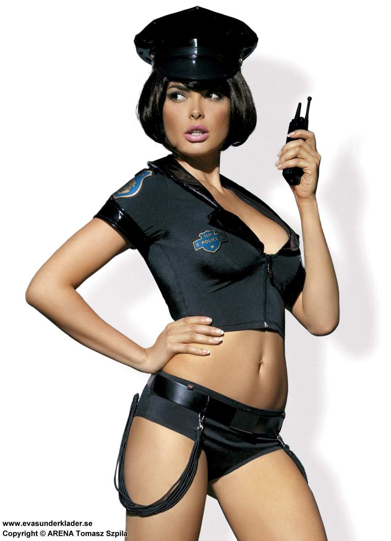 sexig polis kostym